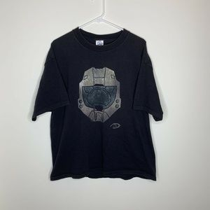SOLD Mens XL Halo 3 Masterchief Helmet Black Shirt